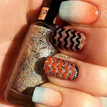 Missoni nails nail art by Daria