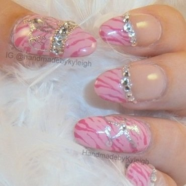 Princess K nail art by  Kyleigh  'Handmade By Kyleigh'