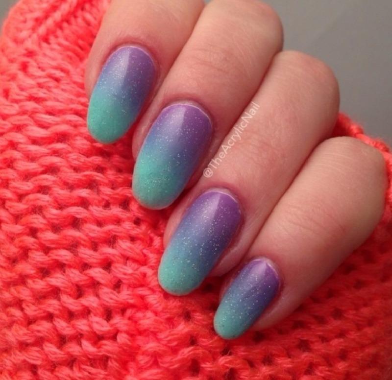 Arabian Night Gradient nail art by Beatrice N
