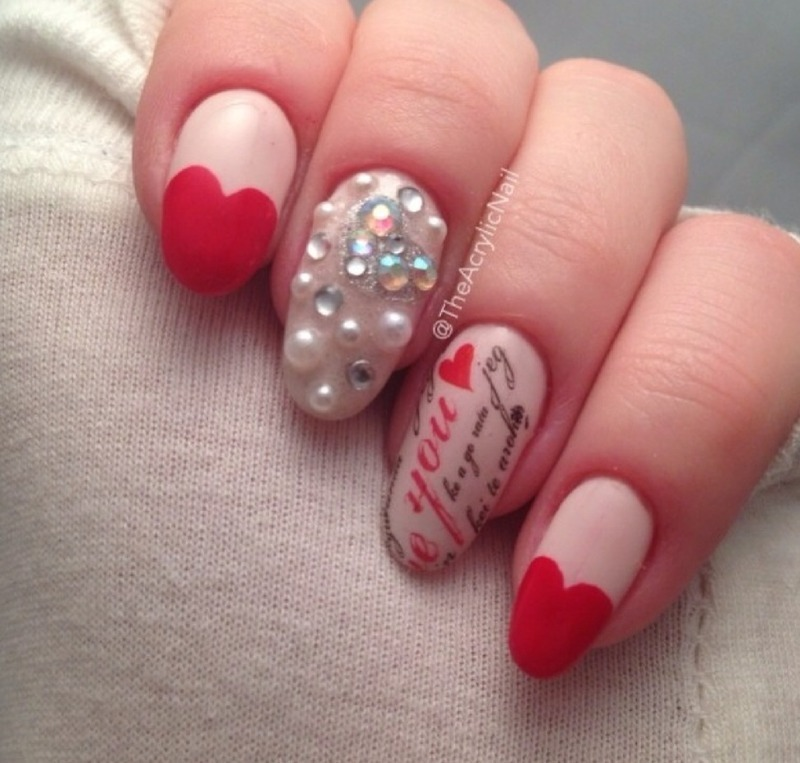 Valentine,s Affair nail art by Beatrice N
