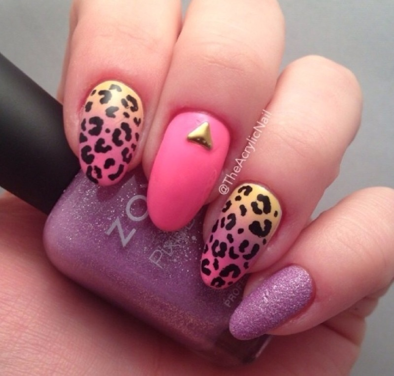 Leopard on Vacation nail art by Beatrice N