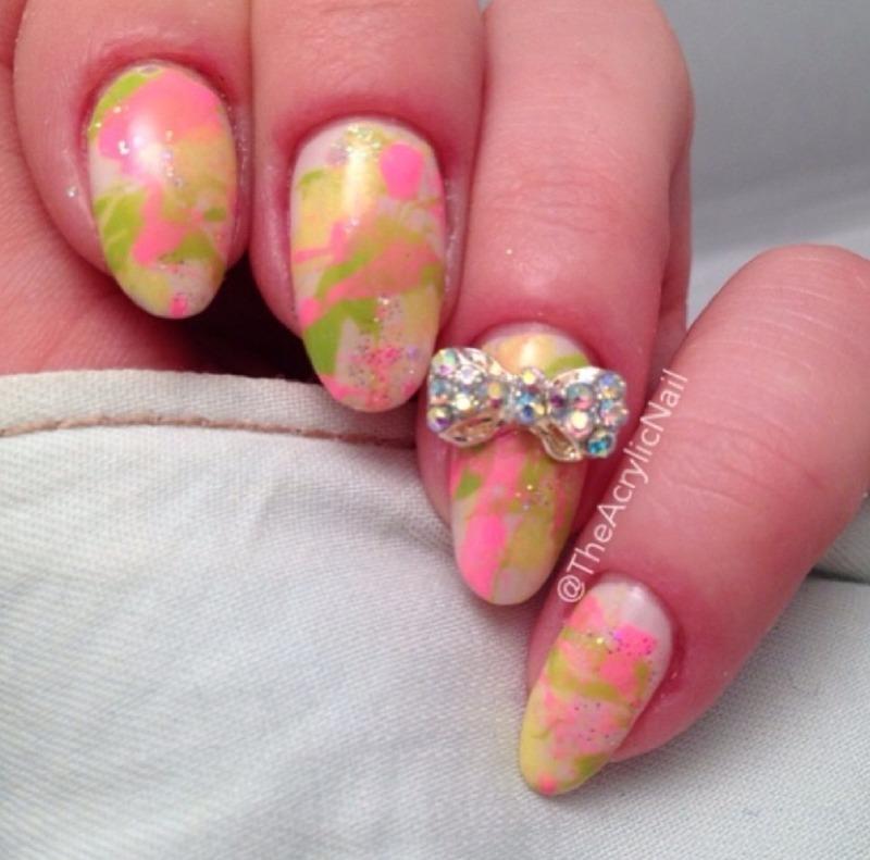 Spring Splatters nail art by Beatrice N