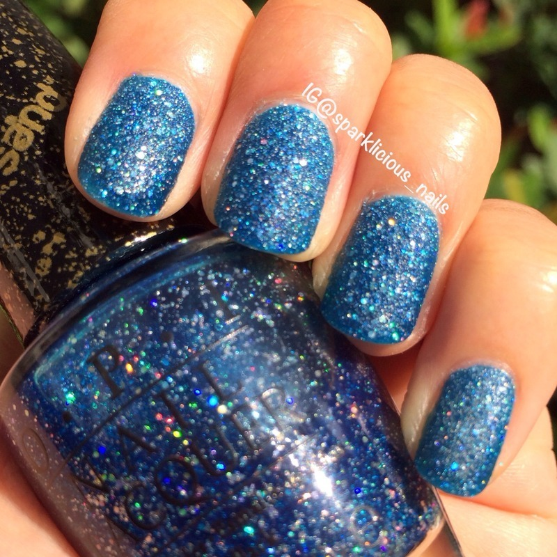 """OPI Liquid Sand Get Your Number Swatch by Amanda """"Sparklicious Nails"""""""