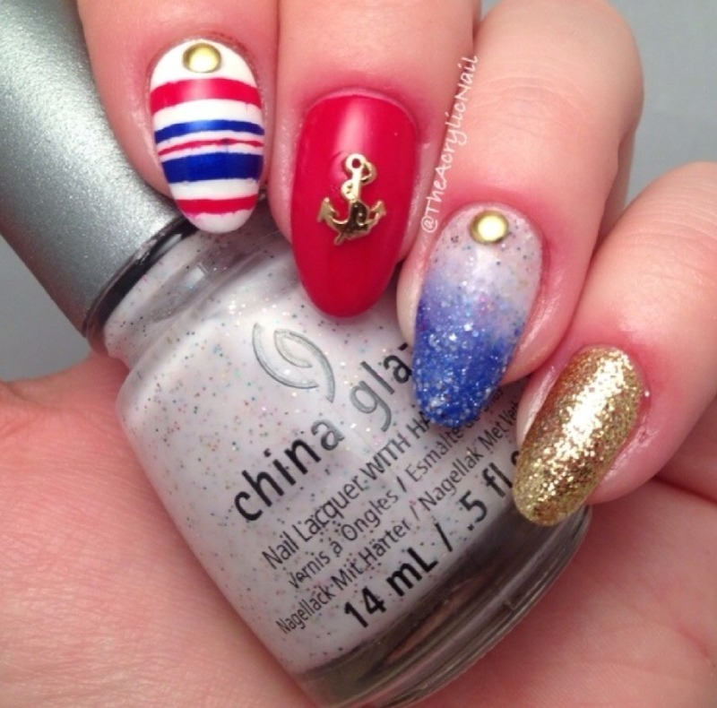 Ahoy Sailor! nail art by Beatrice N