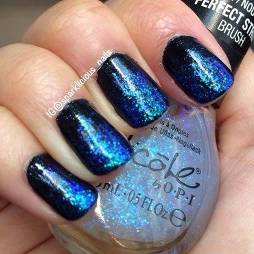 "Iridescent Glitter Gradient nail art by Amanda ""Sparklicious Nails"""