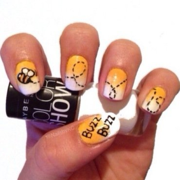 Bumble Bee nail art by Nails by KC