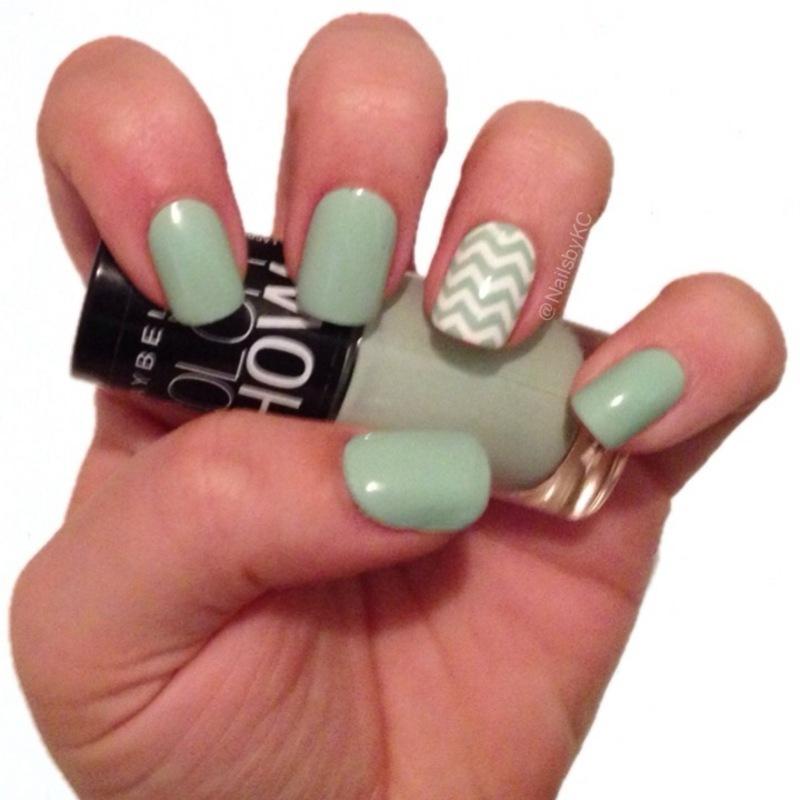 Mini Chevron nail art by Nails by KC