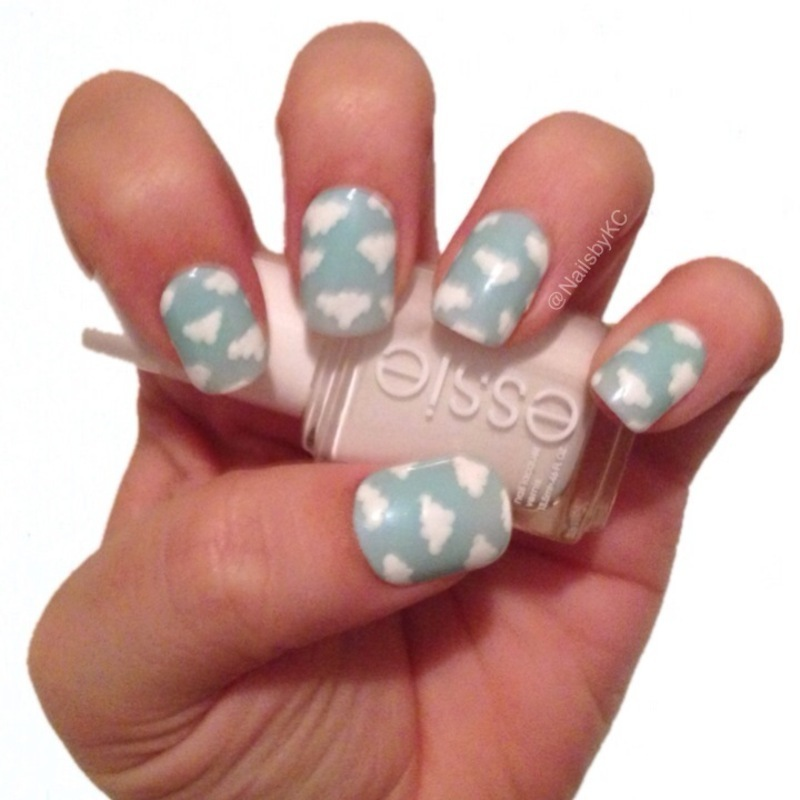 Clouds nail art by Nails by KC