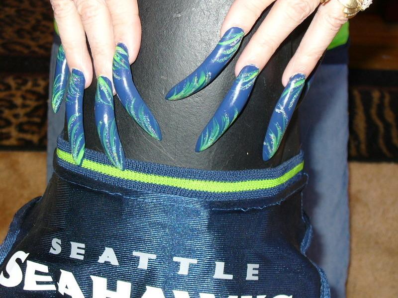 Seahawks Nail Art Nail Art By Tygerr Recchia Nailpolis Museum Of