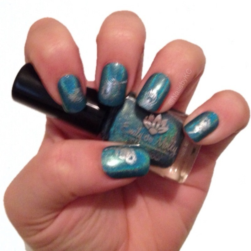 Peacock Feathers nail art by Nails by KC