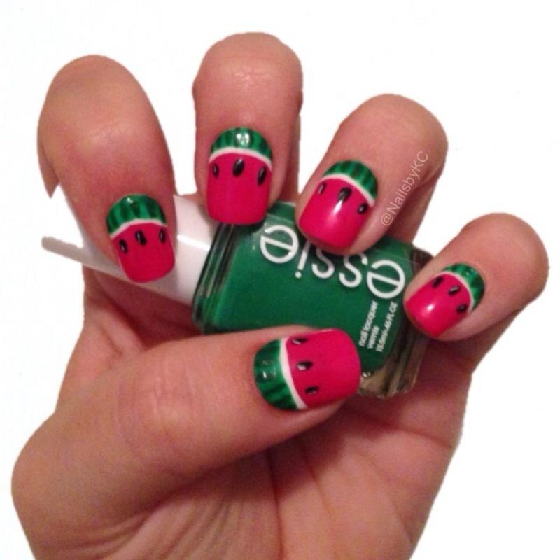 Watermelon nail art by Nails by KC
