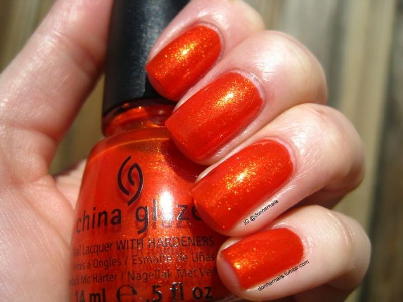 China Glaze Riveting nail art by Donner