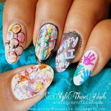 Holi Nails - Colorful Nail art nail art by Anita Style Those Nails