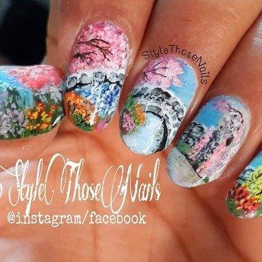 Spring Landscape Nailart nail art by Anita Style Those Nails