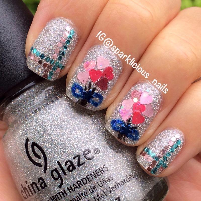 "Glitteriffic nail art by Amanda ""Sparklicious Nails"""