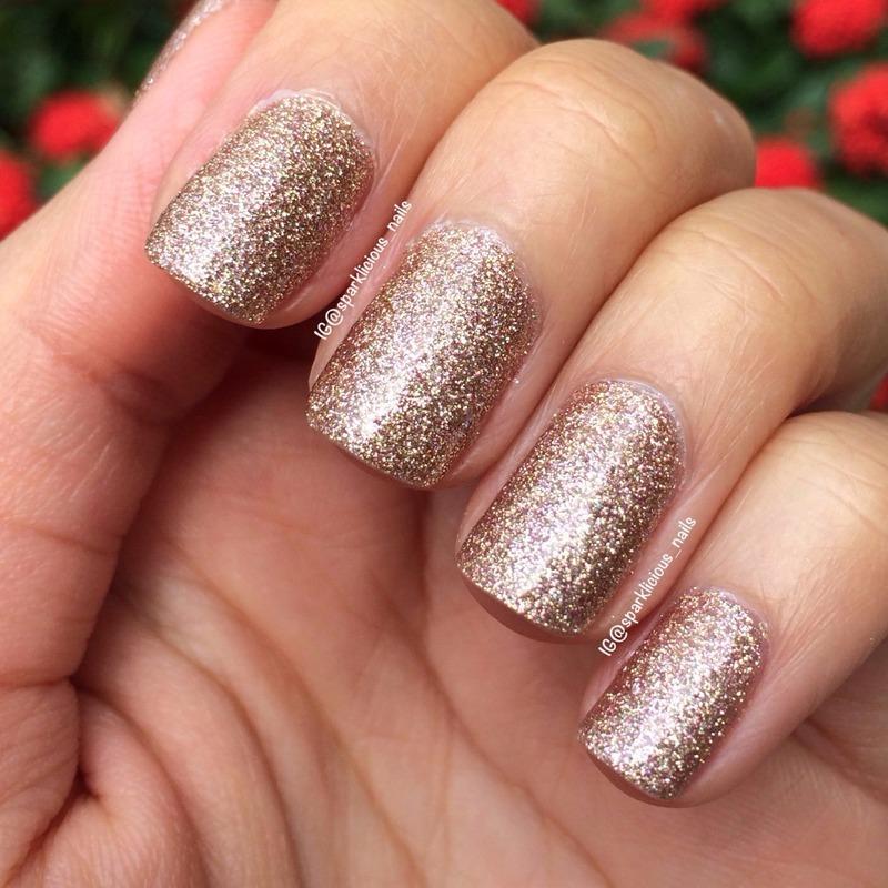 "China Glaze Champagne Kisses Swatch by Amanda ""Sparklicious Nails"""