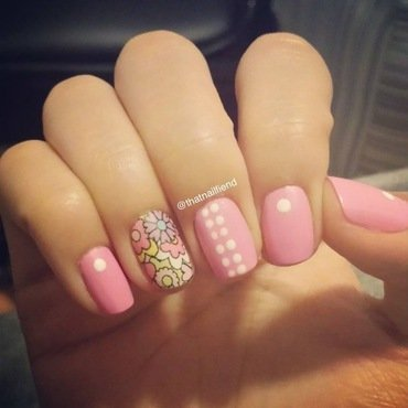 Spring Flowers  nail art by  thatnailfiend