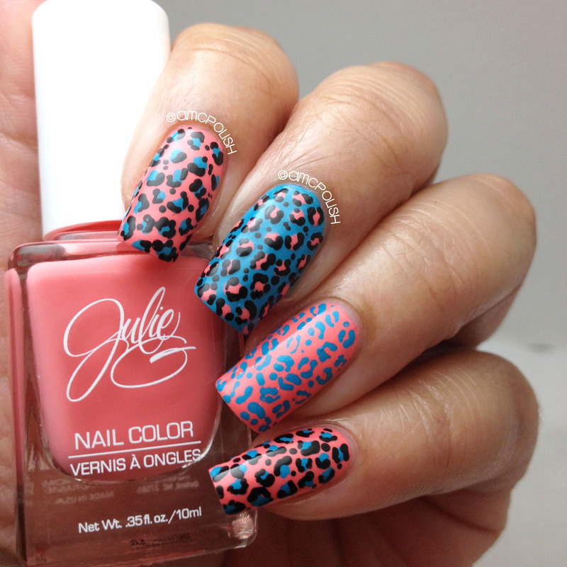 Animal Prints nail art by Amber Connor