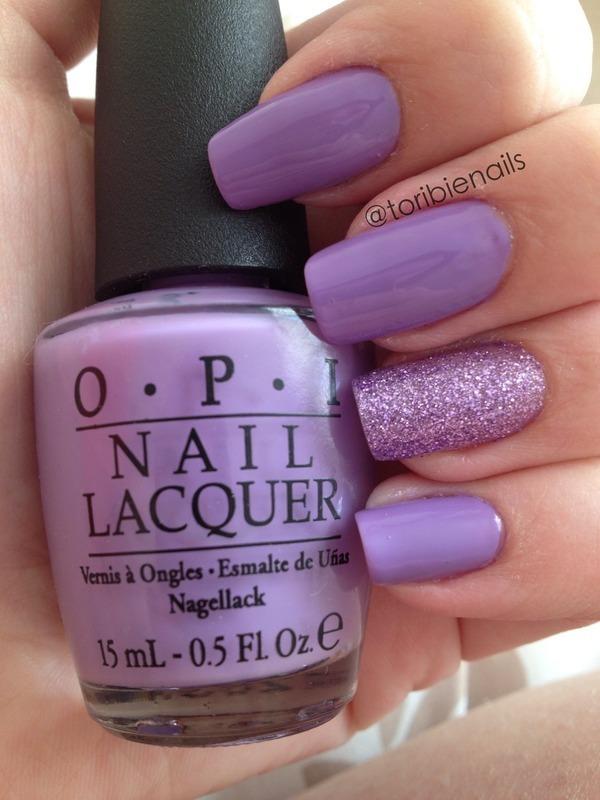 Pretty Purple nail art by Victoria Larabie