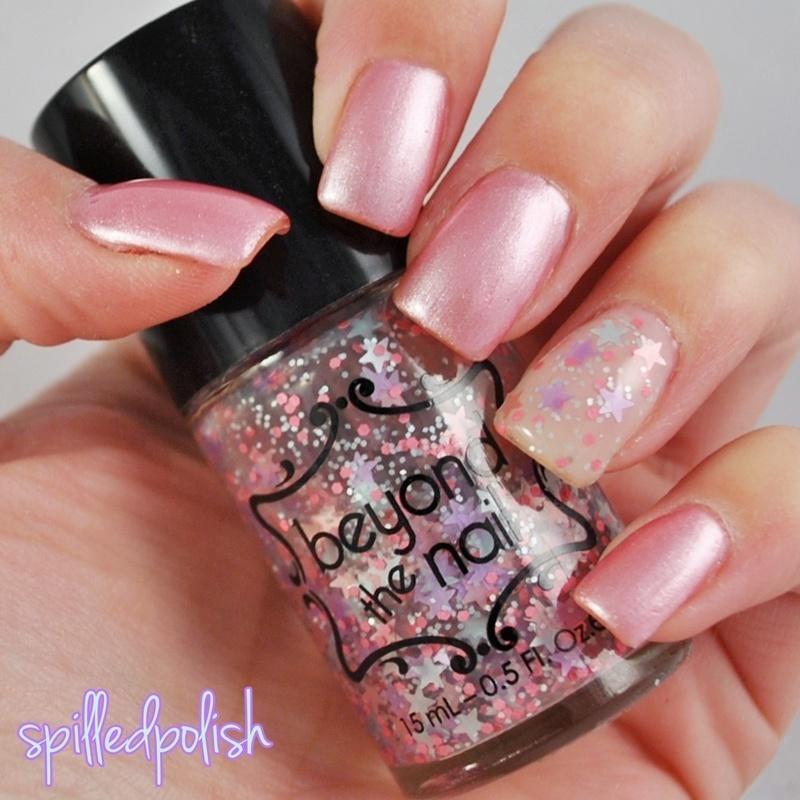 Girly Stars nail art by Maddy S