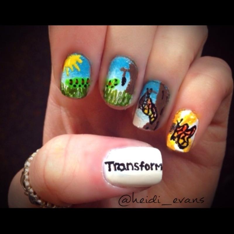 Transform nail art by Heidi  Evans