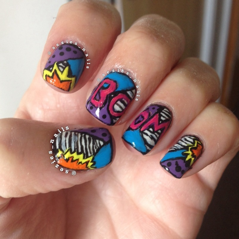 Pop Art Mani nail art by Sarah Bellwood