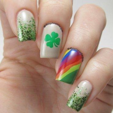 St. Patricks Day Mani nail art by Jennifer Starnes