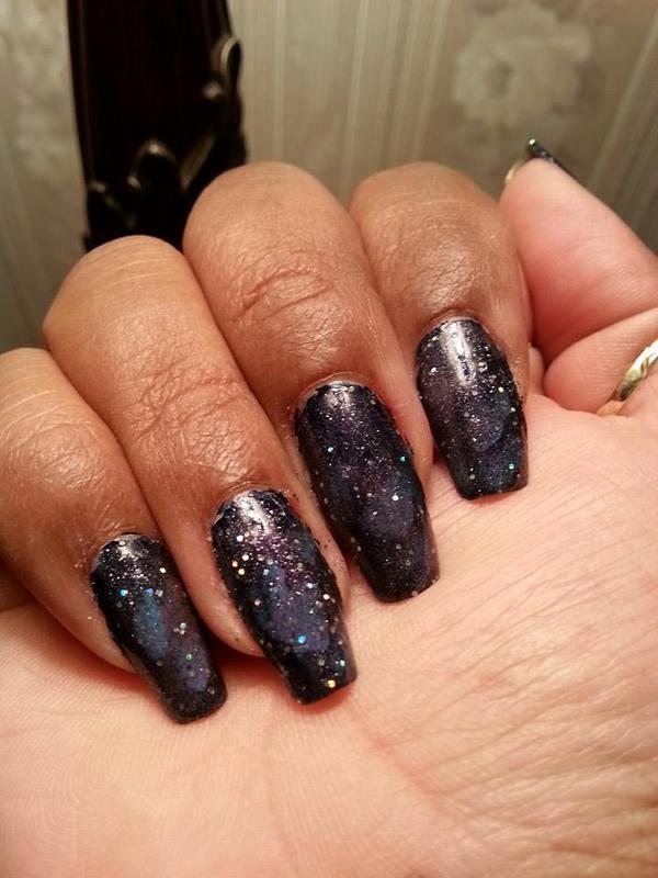 My Galaxy nail art by LisaB