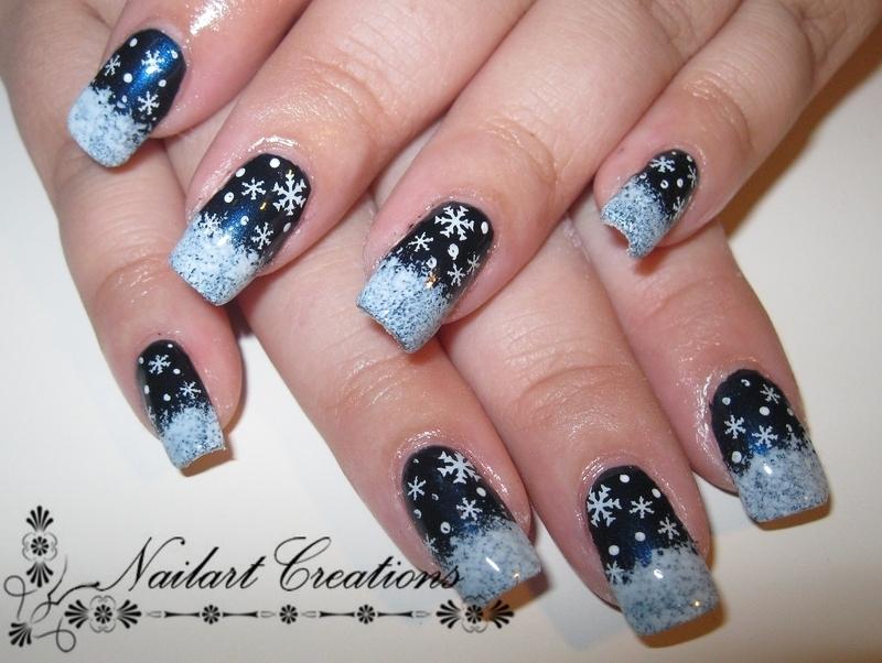 Winter Wonderland nail art by Nailart Creations