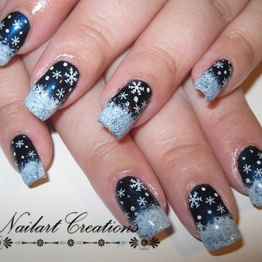 Winter Wonderland nail art by Nailart Creations
