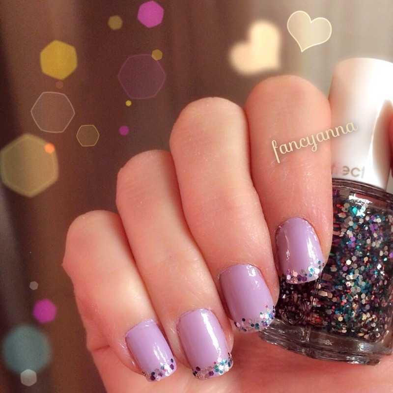 Jazzy glitter placement nail art by Anna-Maria D