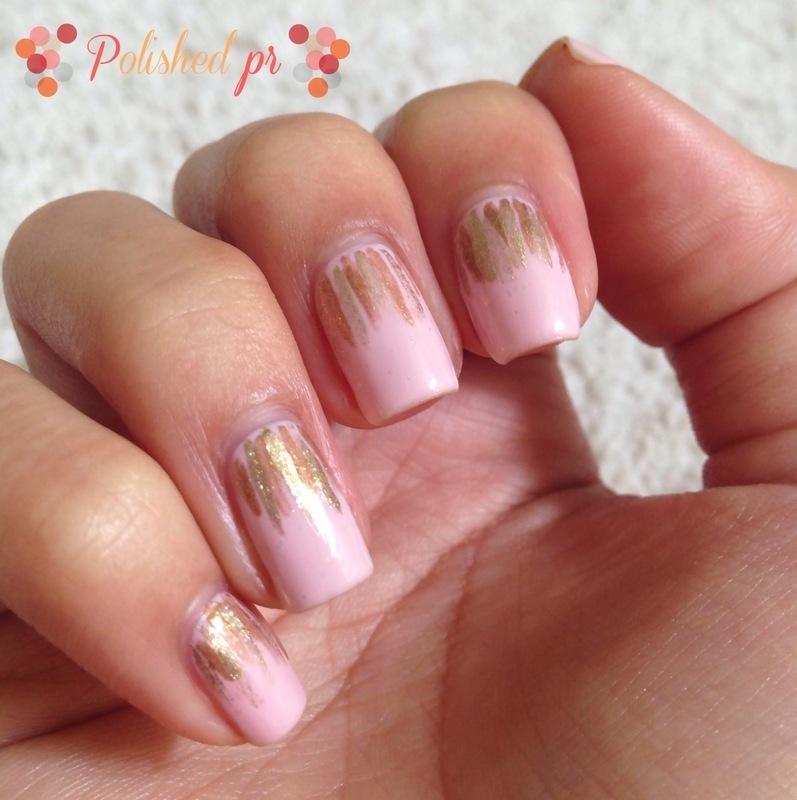Gold Waterfalls nail art by Jenn Thai