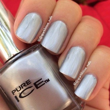 "Pure Ice Silver Mercedez Swatch by Amanda ""Sparklicious Nails"""