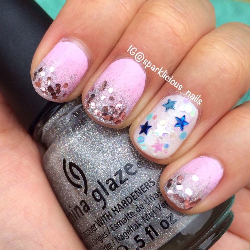 "Glitter Me Happy nail art by Amanda ""Sparklicious Nails"""