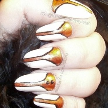 Art Deco nail art by  Kyleigh  'Handmade By Kyleigh'