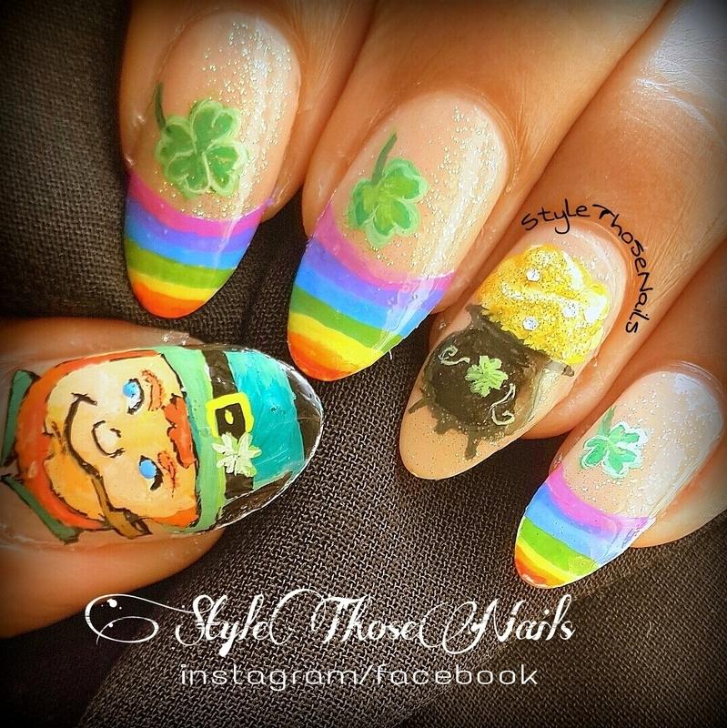Saint Patrick's Day Nailart nail art by Anita Style Those Nails
