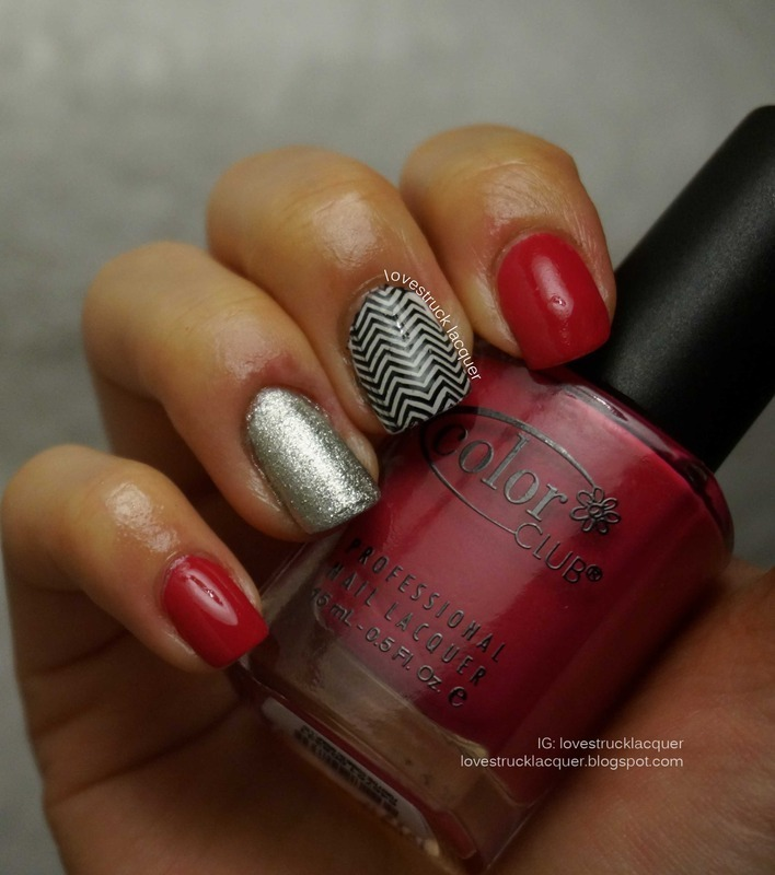 Copycat Mani: Selena Dee Chevron Skittle Mani nail art by Stephanie L