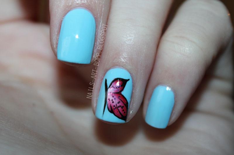 butterfly :) nail art by bopp