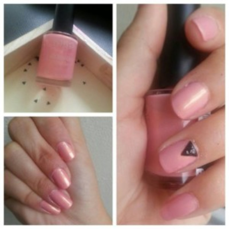 Manucure toute douce et studs nail art by Dju Nails