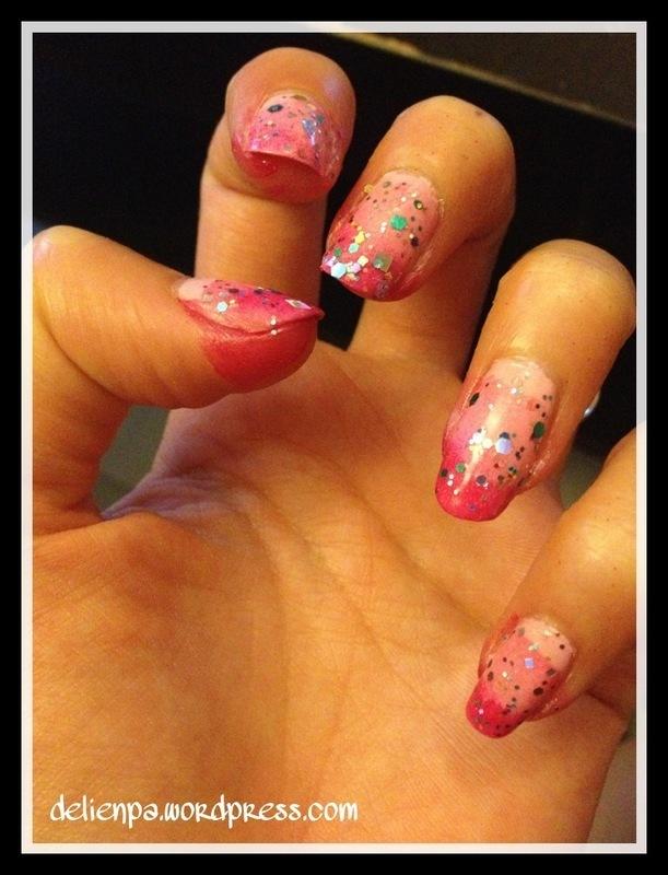 Le dégradé – manucure Little Princess nail art by Dju Nails