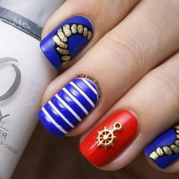 31dc2014 sea seaside boat marine sailor nails nail art nailart                       lets nail moscow blog 1 1 thumb370f