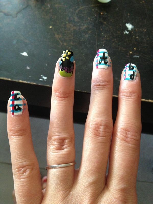 Back to school nail art by Dju Nails