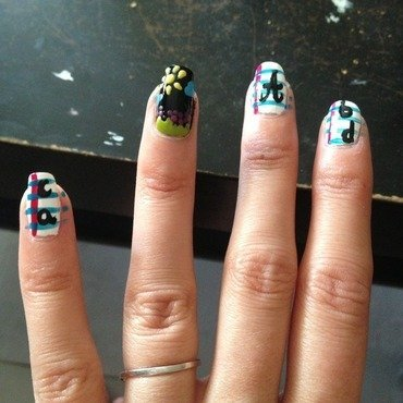 Back to school nail art by Dju Nails