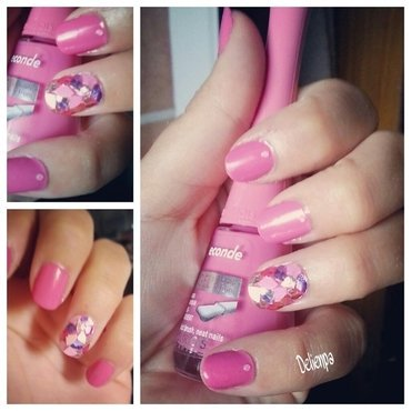 Manucure paillette nail art by Dju Nails