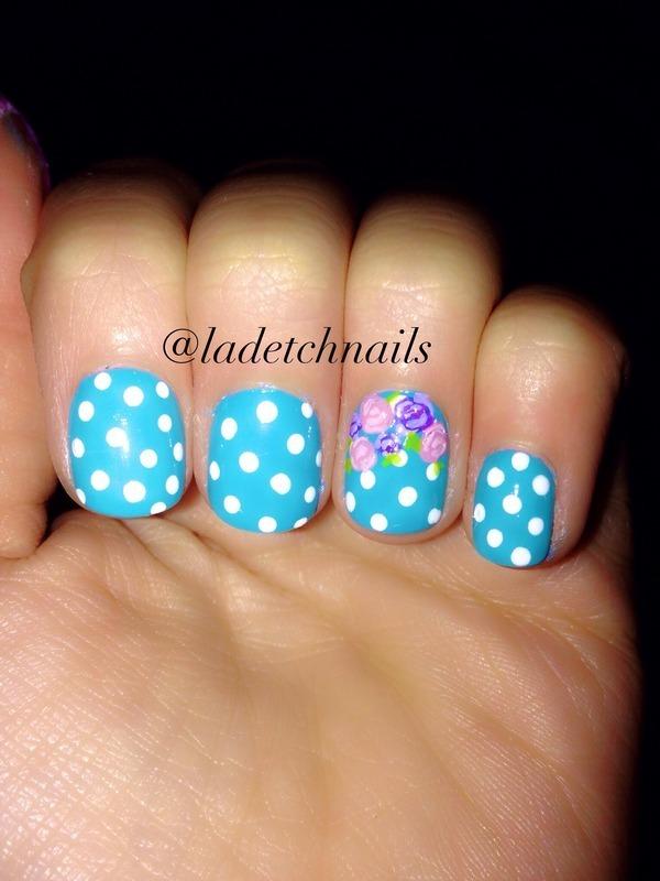 Polka dotty nail art by Ingrid mendizabal