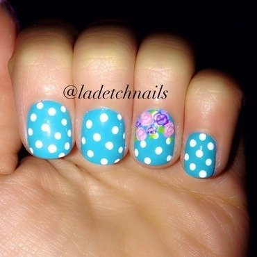 Polka dotty nail art by Ingrid mendizabal