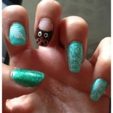 Bois & Forêts nail art by Dju Nails