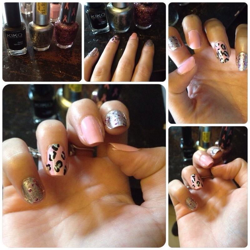 Pink october #bis nail art by Dju Nails