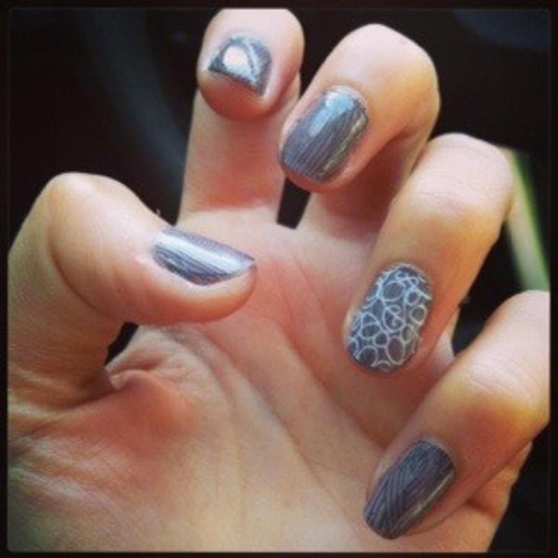 Manucure enrhumée nail art by Dju Nails