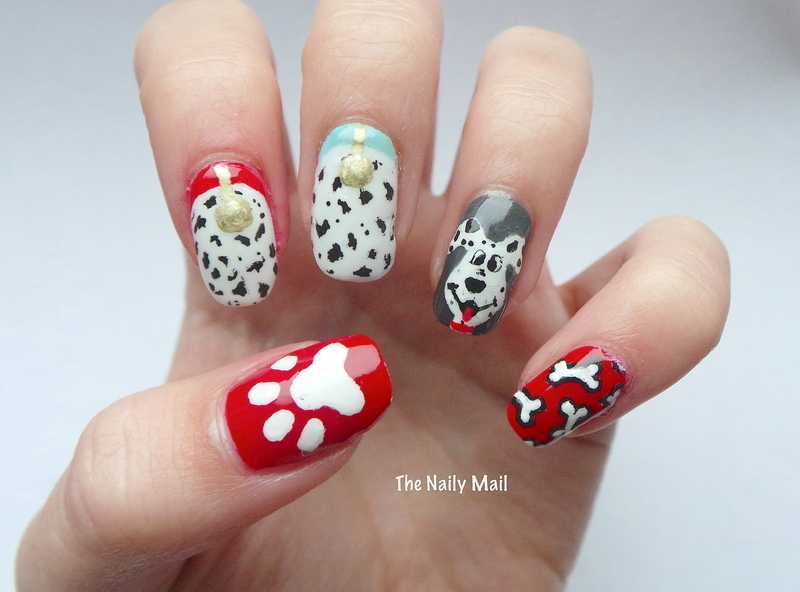 101 Dalmatians nail art by The Naily Mail - Nailpolis: Museum of Nail